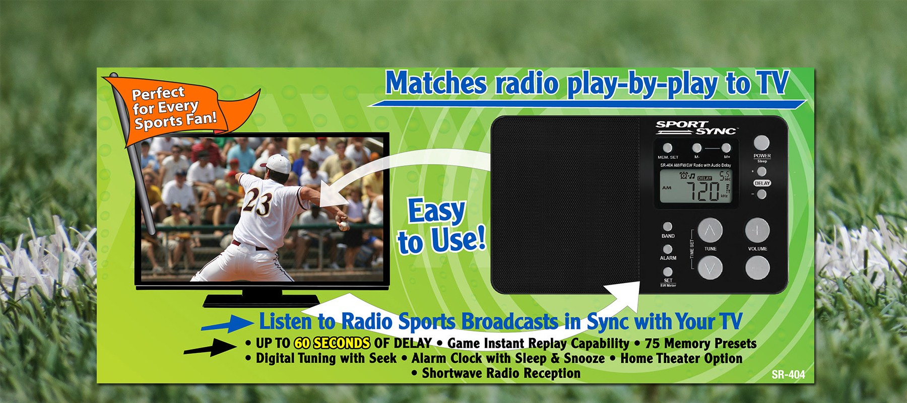 SportSyncRadio – Turn down the sound on your TV and watch